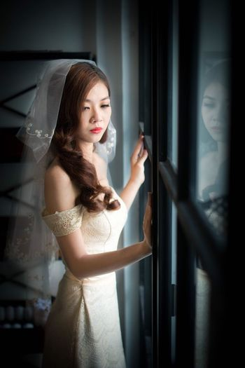 Bride White Dress Vietnamese Lightroom