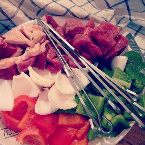 Brochettes Boeuf et Magret in Progress. Plancha Carnivore Foodforfoodies Instafood Instagood