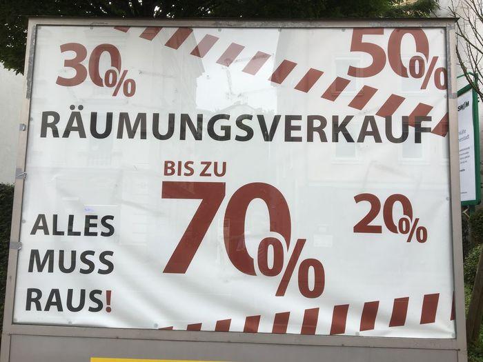Räumungsverkauf