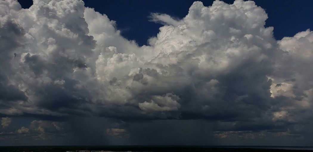 Thunderstorm Power In Nature Ominous Storm Cloud Sky Cloud - Sky Torrential Rain Extreme Weather Hurricane - Storm Sky Only