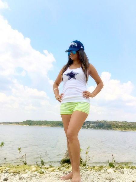 Won't feel the sand or lake water for a while. Texas Dallas Cowboys Latina