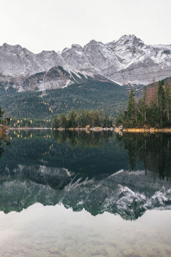 EIBSEE Mountain Lake Water Beauty In Nature Reflection Scenics - Nature Waterfront Tranquil Scene Mountain Range Sky Tranquility No People Outdoors Symmetry Snowcapped Mountain Reflection Lake Nature Nature_collection Nature Photography Germany Outdoor Photography Reflection Reflections