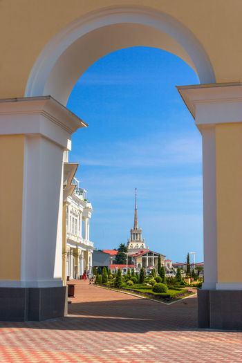 Arch Architectural Feature Architecture Blue Built Structure Column Day Dome Exterior Façade No People Outdoors Sky The Way Forward Tourism Travel Destinations