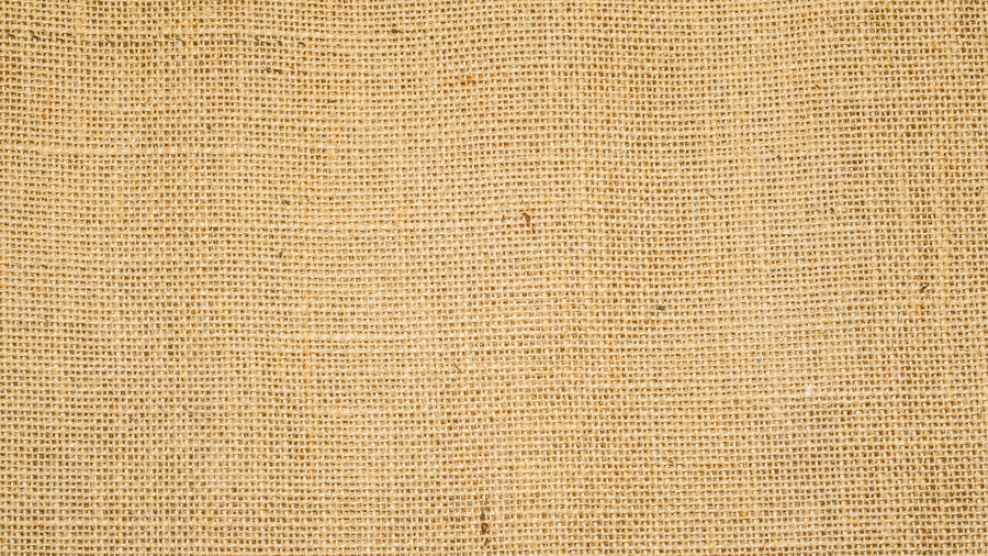 Hessian sackcloth burlap woven texture background / cotton woven fabric background