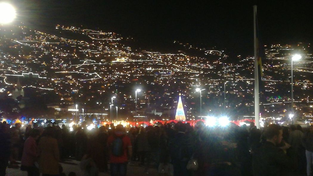 #funchal #madeira Madeiraisland IloveMadeira Portugal Vista View Night Illuminated Arts Culture And Entertainment Celebration Outdoors Crowd Large Group Of People City People