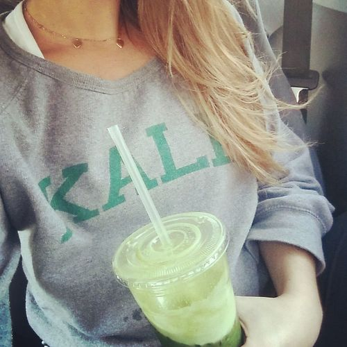 Kale Green Green Juice Fit Fitness Selfie Vegan Soclicheithurts Basic