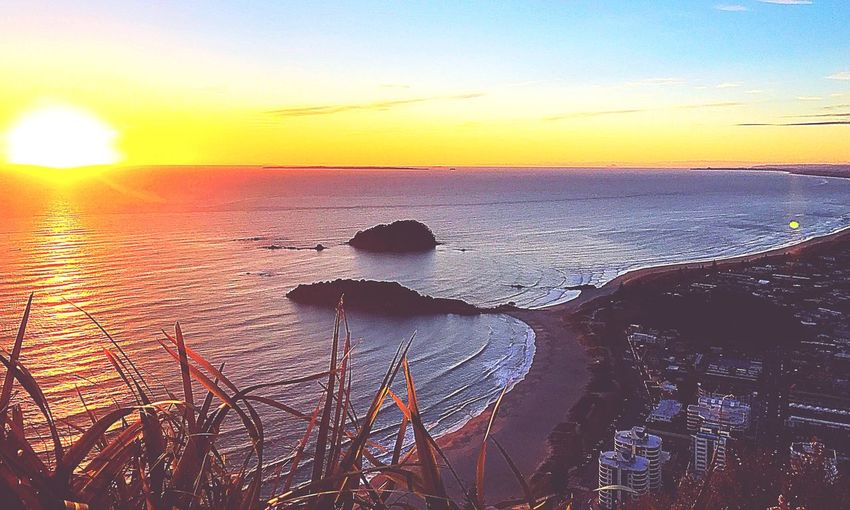 Sunrise at the Mount Sunrise Sea Beauty In Nature Nature Scenics Water Sky Tranquil Scene Outdoors