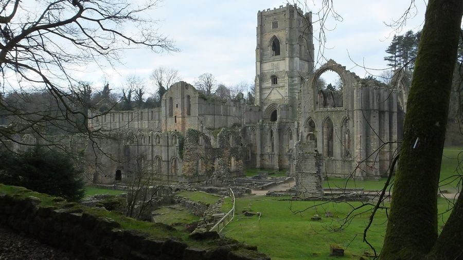 Abbey Fountains Abbey Fountains Abbey Yorkshire Abbey Ruins Abandoned Buildings Stone Buildings Monks
