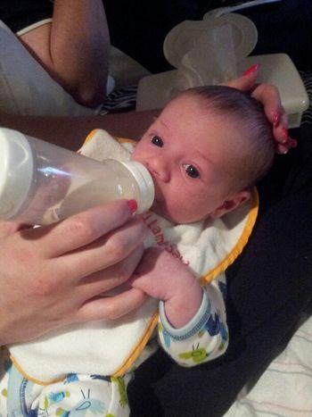 My Grandson Aiden Drinking His Bottle