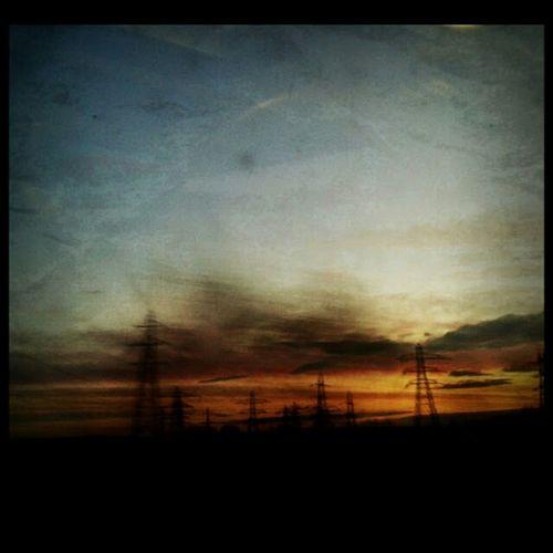 Sunrise Commuting Texture Fromthetrain