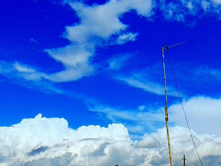 Photography Clouds And Sky Popular Photos Silouette & Sky Hello World The Eye Em Facebook Cover Challenge tv antena and the blue sky