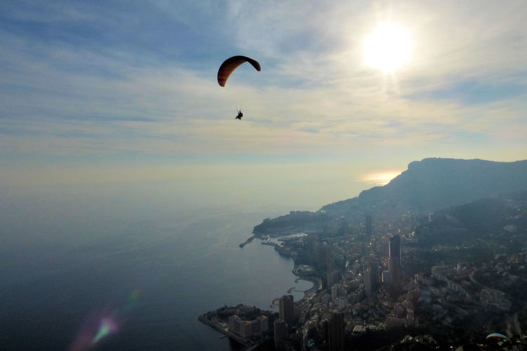 Paragliding Monaco Inflightpictures Ocean View Outdoor Sport France