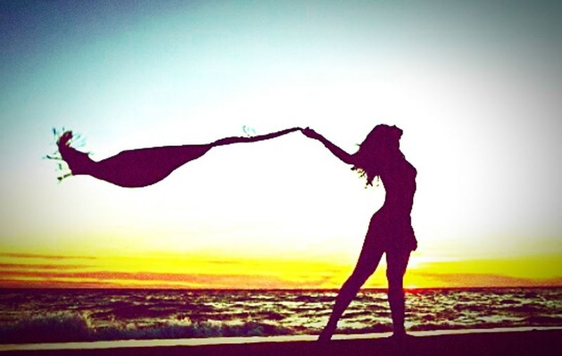 Wind Girl Sea Beach 😎