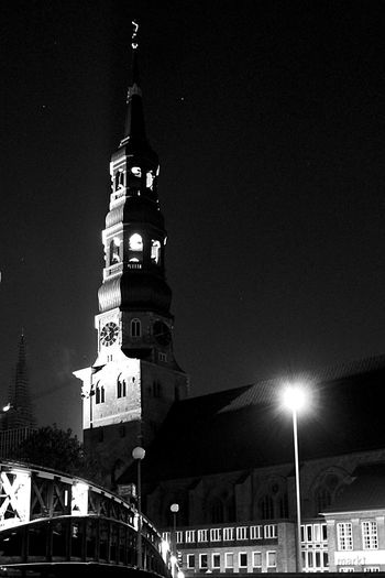 Take Me To Church Night Photography Darkness And Light Shades Of Grey Black And White Photography Monochrome Nightshot Historical Church Old Church St. Michaelis Kirche