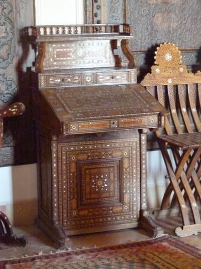 Indoors  Architecture Wood - Material Chair No People Seat Built Structure Building History The Past Absence Home Interior Antique Day Flooring Furniture Wall - Building Feature Door Table Luxury Ornate