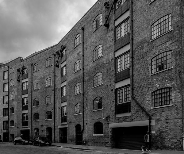 Former Warehouses, Saint Katharine's Way, Wapping, London Architecture Warehouse Wharf Docks Docklands FUJIFILM X-T2 London Monochrome Photography Black And White FUJIFILMXT2 Wapping Monochrome Architecture