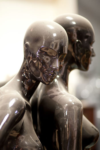 Close-up of mannequin