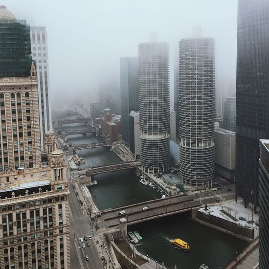 Chasing Fog Chicago From The Rooftop