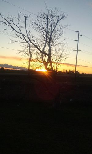 Another gorgeous sunset outside of city limits at my home .