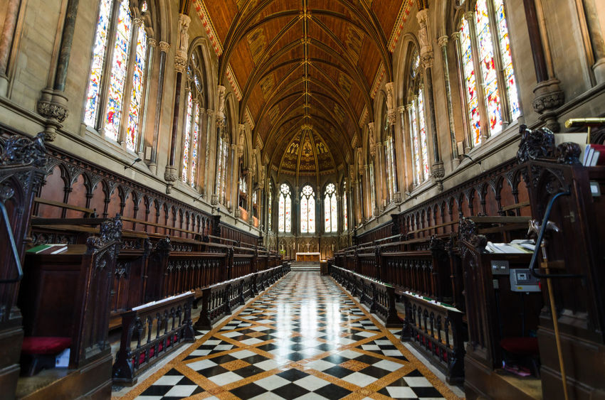 Architectural Column Architecture Cambridge Cambridge University Cathedral Chapel Church Day History Indoors  Indore India King's College Chapel No People Place Of Worship Pray Religion United Kingdom Wide Angle Shot
