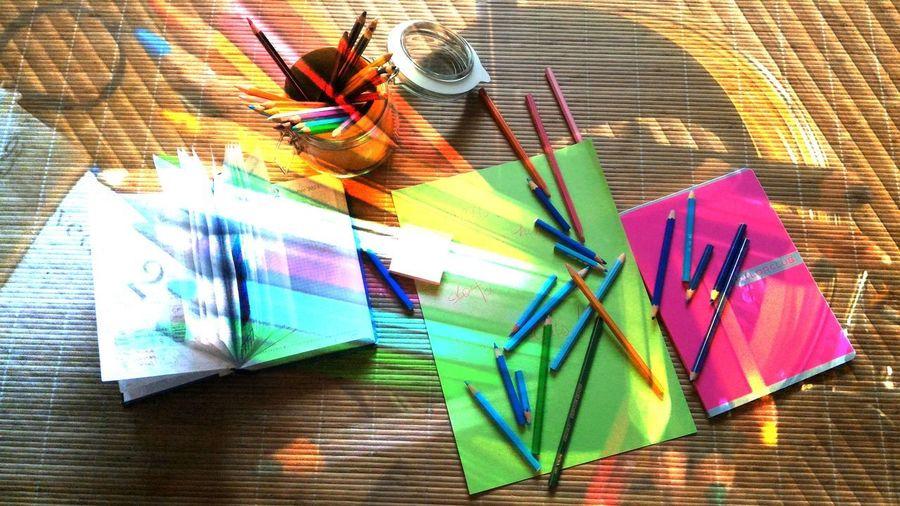 The Color Of School Pastello Multi Colored Colori Colorful Azzurro Azul Lightblue Matite Pencils Scuola School Studiare Studying Happiness Rosso Rouge Rojo Amarillo Giallo Yellow Rainbow Colors Colori Dell'arcobaleno