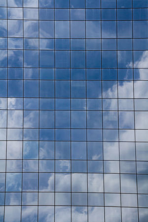 Cloud reflections in windows Abstract Backgrounds Blue City Cloud Cloud - Sky Day Full Frame Geometric Shape Low Angle View Mirrored Modern No People Office Building Reflections Repetition Sky Skyscraper Squares Windows
