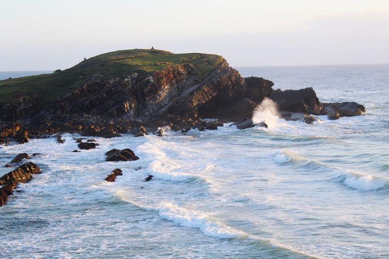 EyeEm Selects Wave Sea Beach UnderSea Sunset Water Sand Rock - Object Colony Sky Rocky Coastline Coastal Feature Seascape Surf Coastline Coast Horizon Over Water