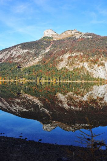 Alps Alpine Autumn Altaussee Austria Mountain Scenics Nature Beauty In Nature Tranquil Scene Tranquility Sky Mountain Range Reflection Water Lake Outdoors Day No People Landscape Blue