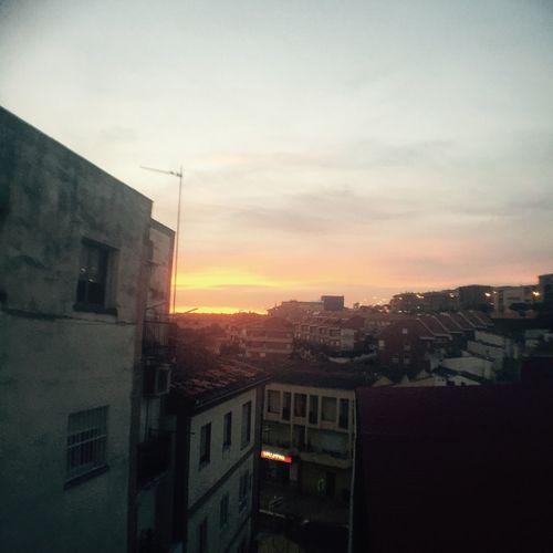 Battle Of The Cities Sunset in autumn Architecture Sunset Cityscape Sky Sun Cloud - Sky Orange Color City Life
