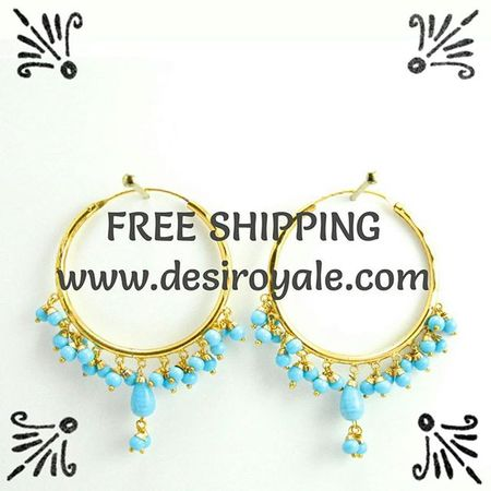 Check out our Beautiful Gypsy Hoop Goldplated Earrings at www.desiroyale.com $29 CAD Freeshipping http://www.desiroyale.com/collections/earrings/products/firoza-hoop-earrings-with-turquoise-beads Desi Desiroyale Burningman Rainbow Hoop Fashion Fashionista Latest Love Girls Friends Gift Royal Anthropologie Zara Diwali Rakhi Shopping Buy picoftheday photooftheday sisters jago sangeet jhumka