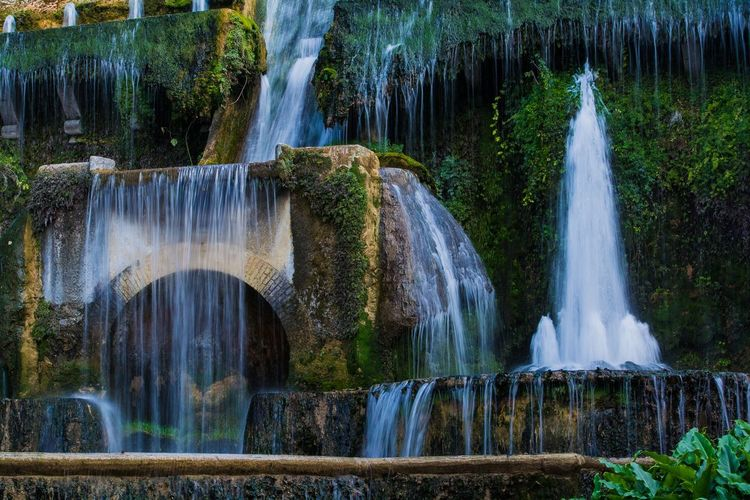Majestic fountain in italy