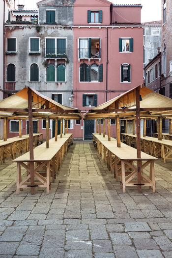 Absence Apartment Architecture Building Building Exterior Built Structure City City Life Day Direction Footpath House In A Row No People Outdoors Railing Residential District Street The Way Forward Transportation Venice Window