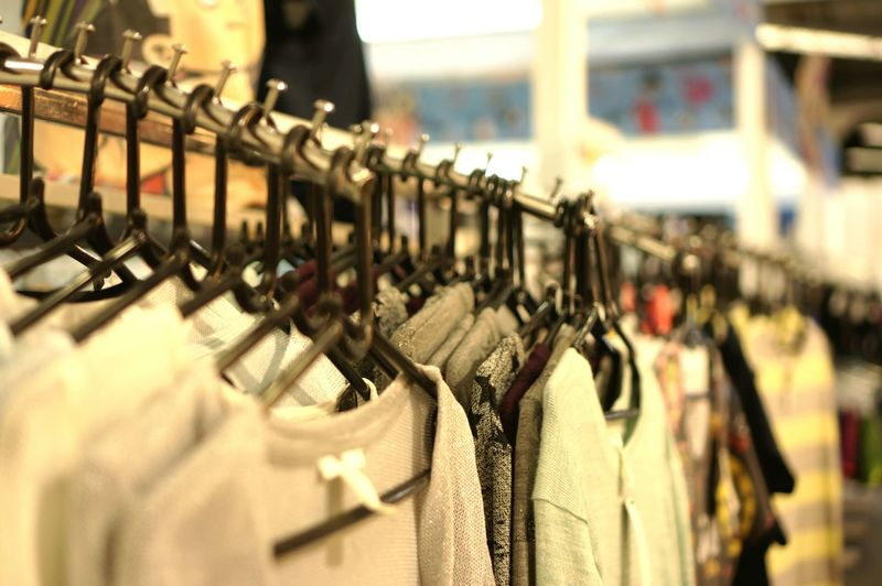 Cloths for sale in store