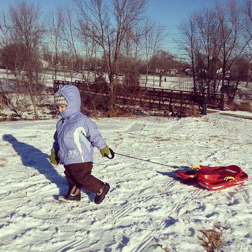 Sledding. ToddlerWintersports Winter Snow