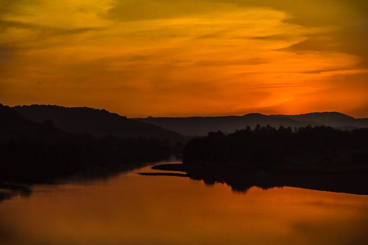 sunset (just