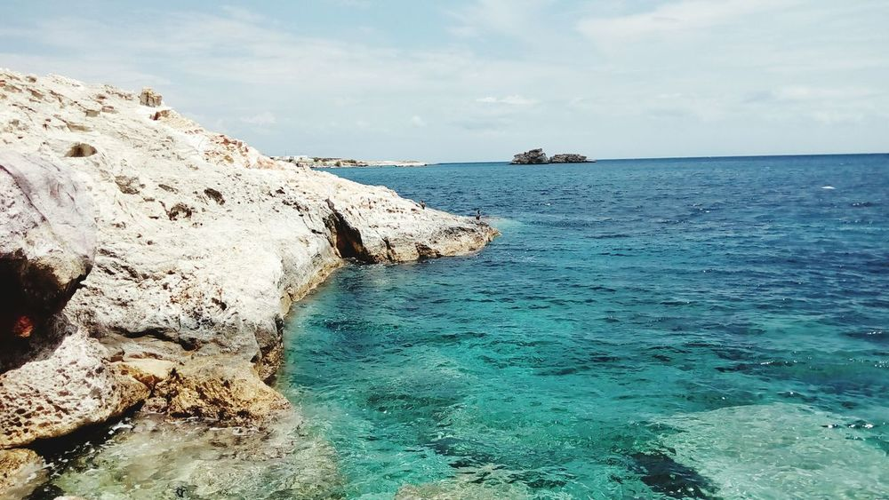 Sea Beach Water Horizon Over Water Nature Vacations Outdoors Beauty In Nature Rock - Object Blue Idyllic Greece