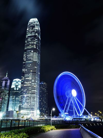 Central Night. HongKong Discoverhongkong Leicaq Leica Nightphotography Streetphotography Central Long Exposure Slow Shutter Night Lights Light And Shadow 香港 夜景