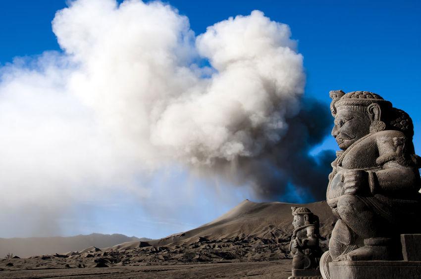 Mount Bromo - Indonesia INDONESIA Mount Bromo Smoke Ash Cloud Outdoors Sculpture Volcano Volcano Eruption
