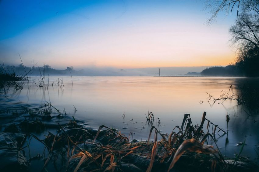 Landscape Fog EyeEm Selects Nature Beauty In Nature Sunset Water Scenics Tranquility Lake Tranquil Scene Outdoors
