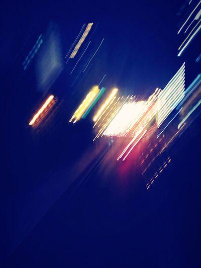 City lights in Nanjing