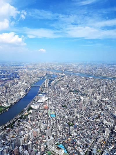 Above the roofs of tokyo