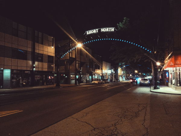 Walking Around Night VSCO Cities At Night Columbus City Short North Arch