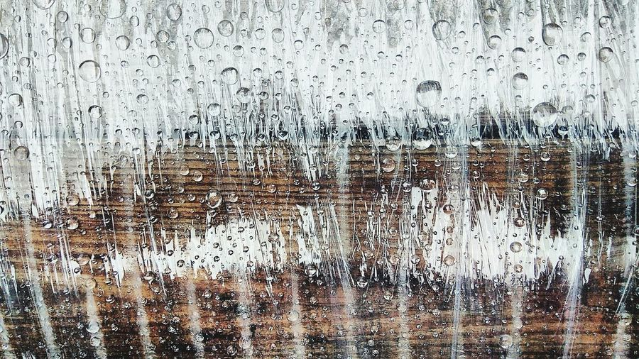 Four things (wood, foil) wet... 3/4 Foil  Plastic Drop Water Drop Waater Drops Rain Wood Wodden Wodden Texture Water Backgrounds Full Frame Textured  Pattern Drop Abstract Condensation Close-up Rainy Season