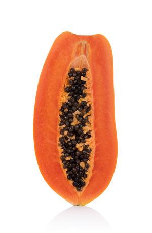 papaya isolated on a white background Isolated PawPaw Food Food And Drink Fruit Papaya SLICE White Background