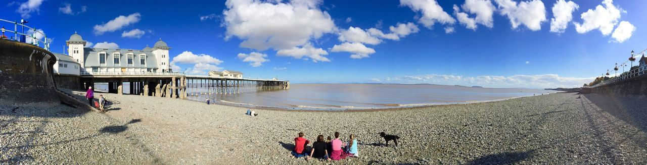 Pier Beach Sky Clouds Clouds And Sky Pebbles Pebble Beach Sea Sea And Sky Seaside Panoramic