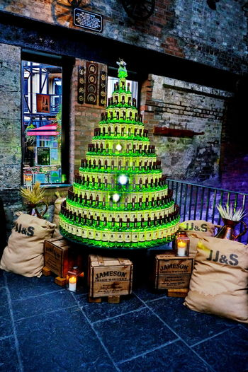 Ireland🍀 Jameson Whiskey NEX-5T Architecture Building Exterior Built Structure Christmas Christmas Decoration Day Illuminated Indoors  No People Place Of Worship Religion Sculpture Sony Spirituality Statue Text Tradition