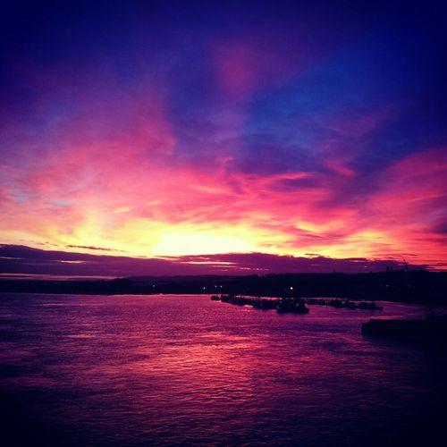 Sunset over Rochester Kent
