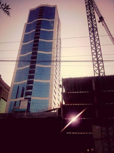 Architecture Stillworking Construction Site Metropolitan Center