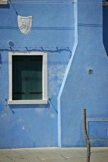 Architecture Blue Building Exterior Built Structure Coloured Houses Day Murano Italia No People Outdoors Traditional Culture Venice, Italy Window EyeEmNewHere Minimalist Architecture