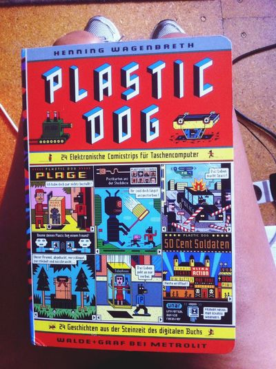nice present! Comic Book Plastic Dog Present